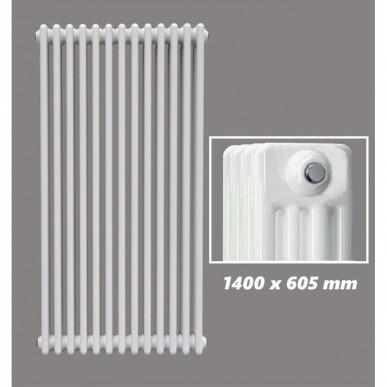 1400 X 605 mm Design Röhrenheizkörper Weiss 4 Lagig