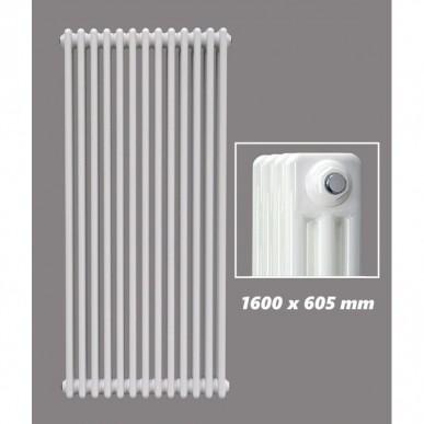 1600 X 605 mm Design Röhrenheizkörper Weiss 3 Lagig