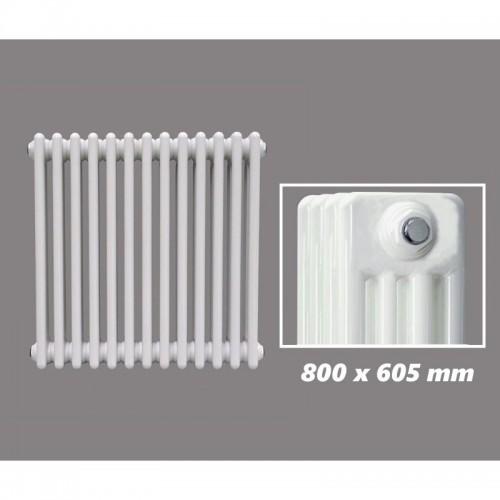 800 X 605 mm Design Röhrenheizkörper Weiss 4 Lagig