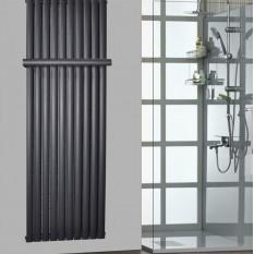 Handtuchstange Design Handtuchhalter für Paneelheizkörper Ellipse Anthrazit 590 mm