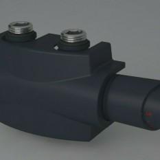 Heizkörper Armatur-Set für Mittelanschluss 50mm Eck Multiblock Anthrazit