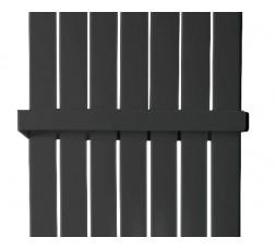 465 mm Handtuchstange Design Handtuchhalter für Paneelheizkörper FLACH Anthrazit