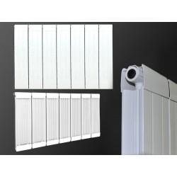 600 x 980 mm  Aluminium Weiß HORIZONTAL HEIZKÖRPER SEITEN & MITTELANSCHLUSS